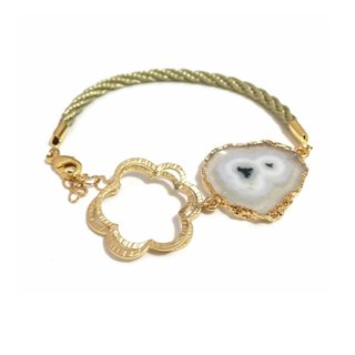 Gold Plated Solar Quartz Bracelet