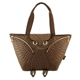 Morn Creations genuine Owl Tote (available when mom pack) - Coffee (OW-401-BR)