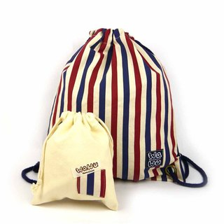 WaWu Drawstring backpack (stripe)
