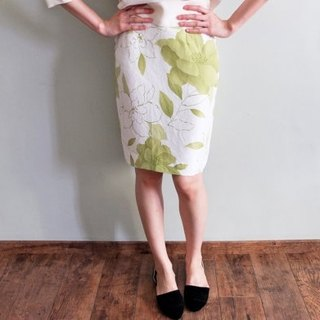 Silk Micro-old deal Bailv Dong Yang style skirt printed word (s cloth just enough to make ㄧ member number size)