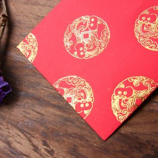 Red Envelope/Gold Stamping in Chinese Auspicious Pattern/Medium Size