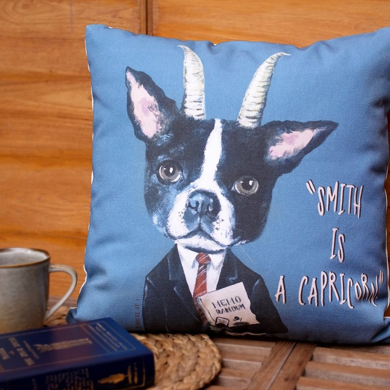 "Zodiac canvas cushion 17""x17"" Capricorn"
