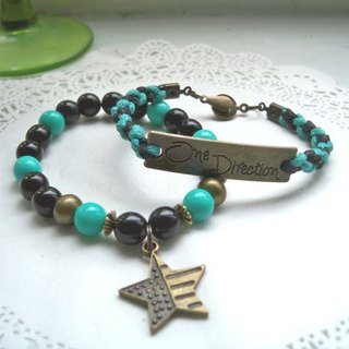 One Direction Bracelet - Tulu Green + Black - 2