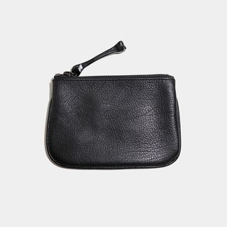 HÉRISSON D'OR double key wallet - Black drop sheepskin