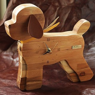 [CHIC DOG] Time Companion ~ Integrated Teak Table / Wall Clock