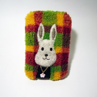 Bunny cell phone pocket with key and chain of