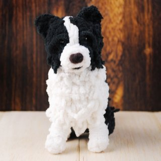 15cm pet cloned [feiwa Fei handmade baby doll pet border collie] (welcome to build your dog)