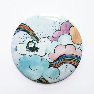 Elvis unappealing color illustration medallion / Sky - Rainbow / 58mm /