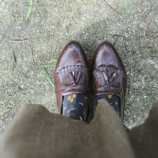 Spend Vintage | American Florsheim carved tassel loafers