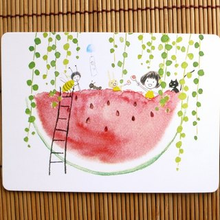 Eat watermelon postcard