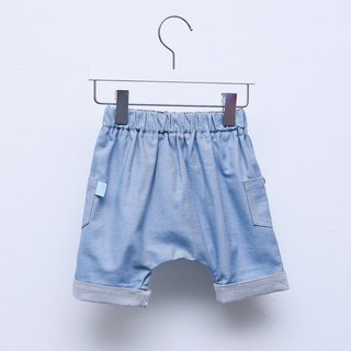 [My little star] organic cotton single Ningha Lun pants (light blue)
