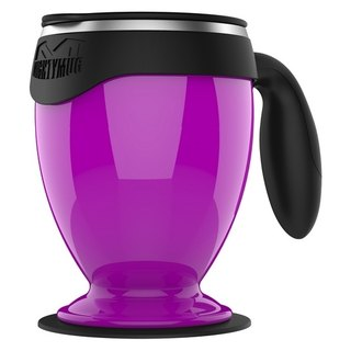 [Sucking the odds and not pouring the cup] Desktop double-layer covered mug - stainless steel Monarch Edition (purple)