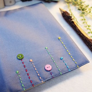 Hand-made book clothing notebook 【Rain】 steel blue canvas section (A5)