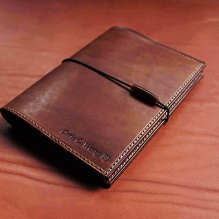 [MUJI A6 30-page VULCAN Note] Italian 鞣 鞣 革 leather notebook can be embossed