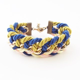 Multicolor braided bracelet