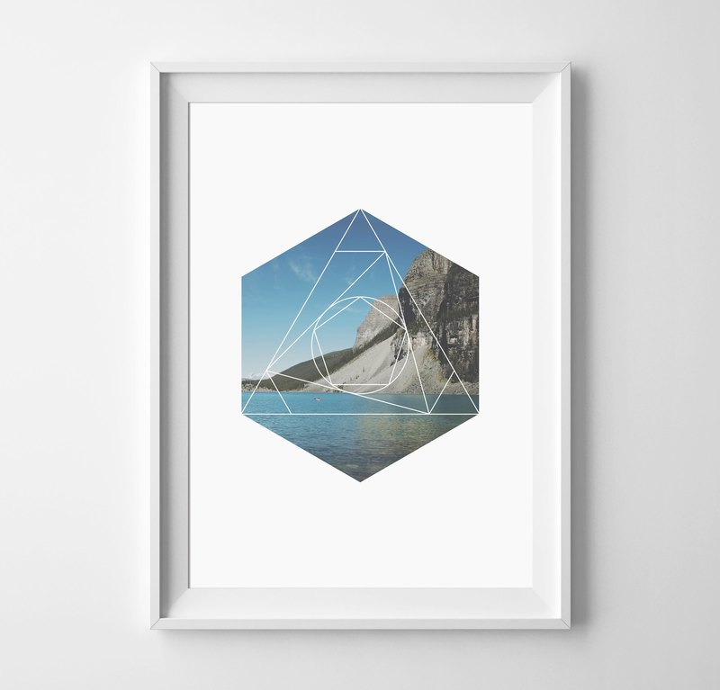 Geometric Customizable Hanging Poster