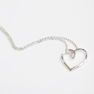 Silver necklace / heart ‧ Love (Necklace / Necklace)
