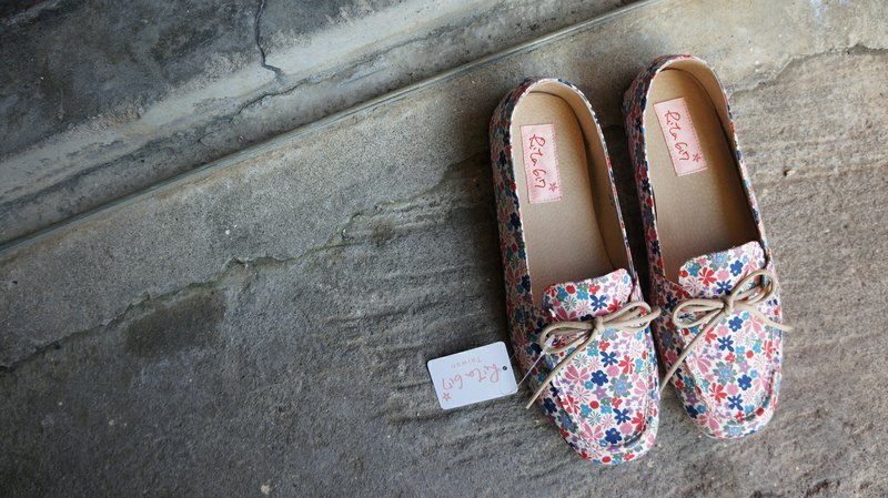 Rita617 small floral limited flat shoes (Liberty cloth) (23.5 cm)
