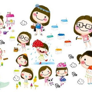 Maya + Ms Bibiana Story 2 version + boys series transparent stickers