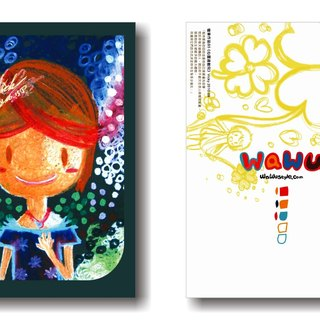 WaWu soul hyperactive child / painted / homemade postcards / limited edition handmade card