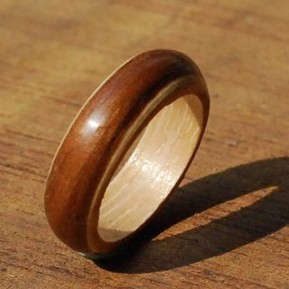 Teak color series white maple wood Ring Ring can be customized Valentine's Day