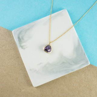 Edith & Jaz • Birthstone Collection - Amethyst Topaz (February)  Necklace