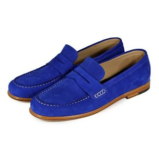 Rose Angel M1108 Royal Blue suede penny Loafers