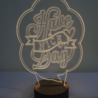 LightXLife 3D Night Lights -Have a nice day