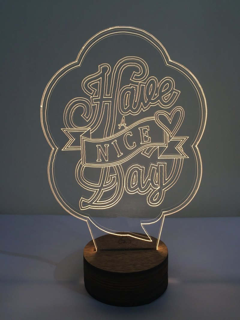 LightXLife 3D夜燈-Have a nice day