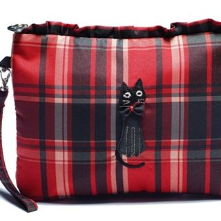 Noafamily, Noah's Check Cat bow cat in hand with universal bag _R A595-R