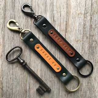 Holmes Leather Key Ring Graphite Black Leather Keychain BLACK