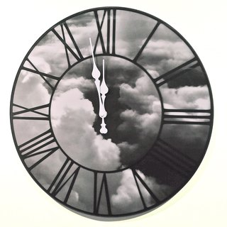 3D clouds clock