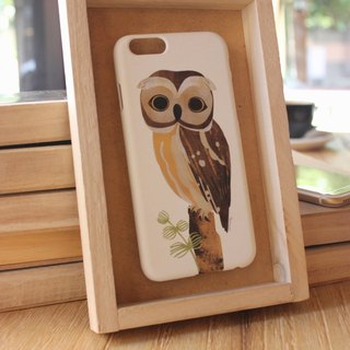 Korea style top anti-wear paint painted phone protective shell [Spa smaller objects / Owl OWL] Korea Design Hall Customizable Model iPhone: i6s / i6s plus + / i6 / i6 plus / i5 / Samsung Samsung: S6 Edge + plus / S6 / S6 Edge / S5 / Note5 / Note4 / Note3 /