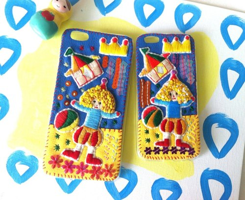 Circus beaded embroidery hand-made mobile phone shell iPhone5, iPhone6s, 7
