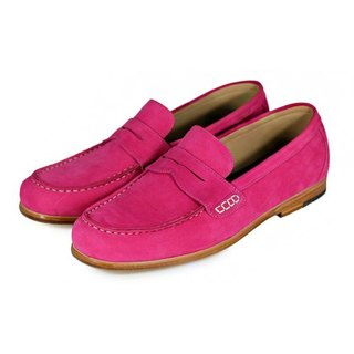 Rose Angel M1108 Fuxia suede penny Loafers