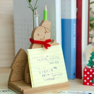 [customized gift] [small snowman business card seat] desk small things / table test tube planting