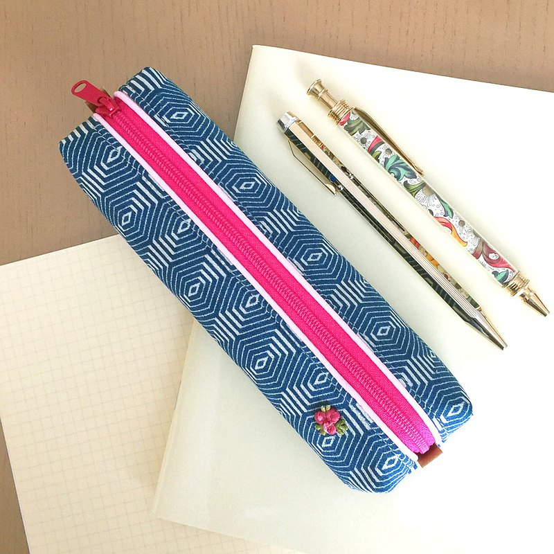 Pen Case with Japanese Traditional Pattern, Kimono