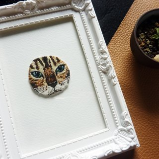 [Cat] handmade embroidery / limited edition hand-made / Gifts / Healing / cat / minou