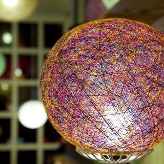 Mysterious crystal ball] [hand-woven ball lampshade