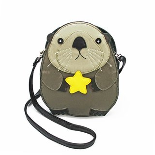 Sleepyville Critters Baby Beaver Holding a Star Shoulder Crossbody Bag