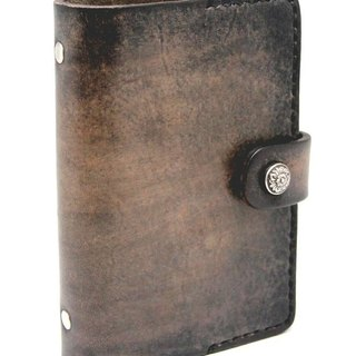 Texture hand-stained smoked leather 5-inch notebook