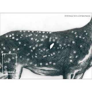 [Jiang Tang - Postcard] deer (endangered species endemic to Taiwan love Taiwan)