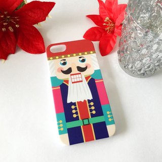 Christmas Series -Nutcracker Color 2 Print Soft / Hard Case for iPhone X,  iPhone 8,  iPhone 8 Plus,  iPhone 7 case, iPhone 7 Plus case, iPhone 6/6S, iPhone 6/6S Plus, Samsung Galaxy Note 7 case, Note 5 case, S7 Edge case, S7 case