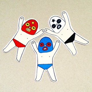 Masked wrestler (a group of three)