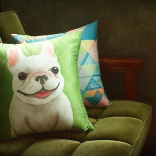 / Animal friend / small Zhuang Fight square afternoon pillow pillow with pillow heart