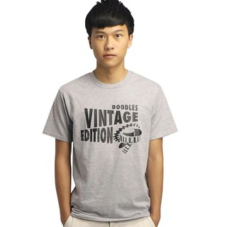 20% coupon Doodles simple gray T-shirt boys hemp, complex grams version Vingtage Edition