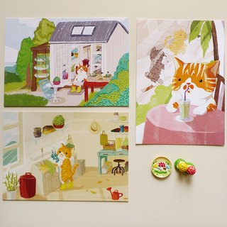 Postcard Pack - Hong Shi small orange gardener