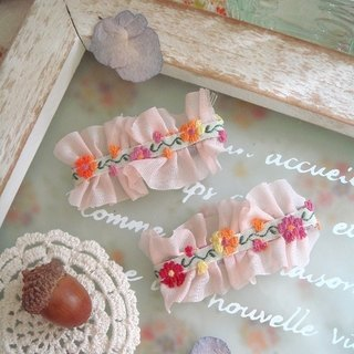 Ribbon chiffon lace fungus garden feel hairpin Garohands dream 森林莫 within G054 / G055
