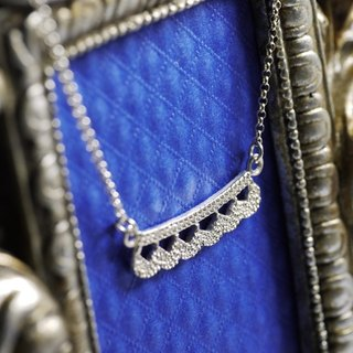 Lace Necklace - Antique Jewelry - Sterling Silver