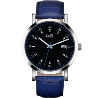 NO Monday 12 Windows Designer Watch - Blue/43mm